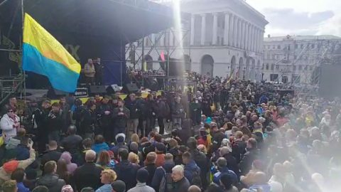 """Ukrainian society strongly protests against """"Steinmeier formula"""". Resolution of the Stop Capitulation viche"""