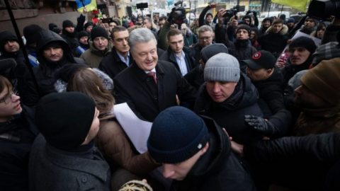 The 5th President of Ukraine Petro Poroshenko attended the State Bureau of Investigation for questioning