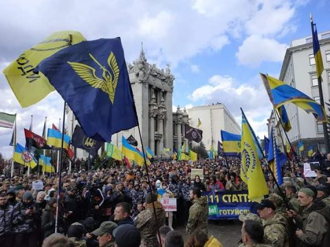 March of Patriots gathers over ten thousand people in Kyiv