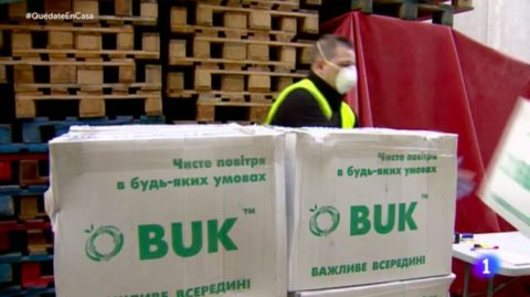Facing the lack of medical masks as of coronavirus spread, Ukraine sold them to Spain