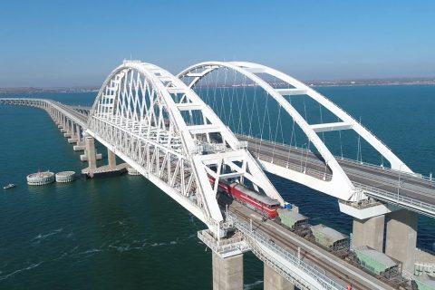 Russia opened freight train traffic through the railway bridge to Crimea