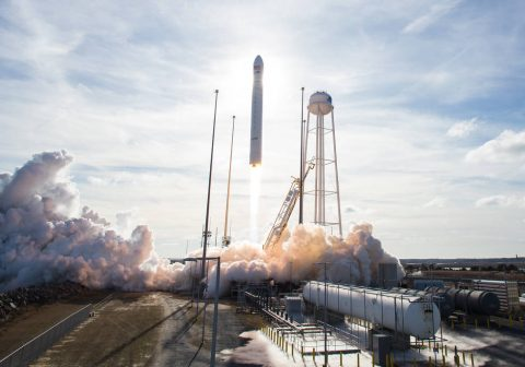 Antares medium-lift launch vehicle took place from NASA's Wallops Flight Facility